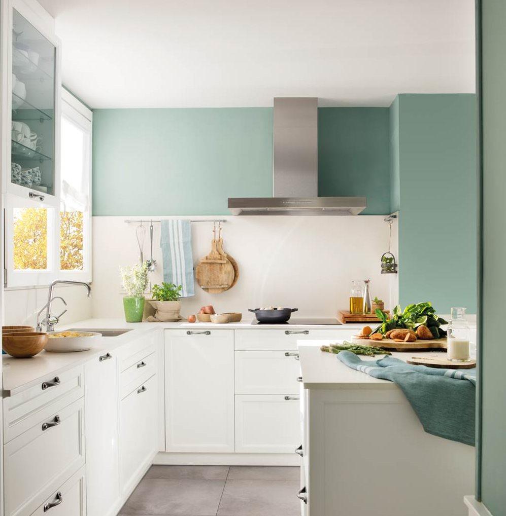 Dale color a tu cocina blanca - Cocinas blancas ...
