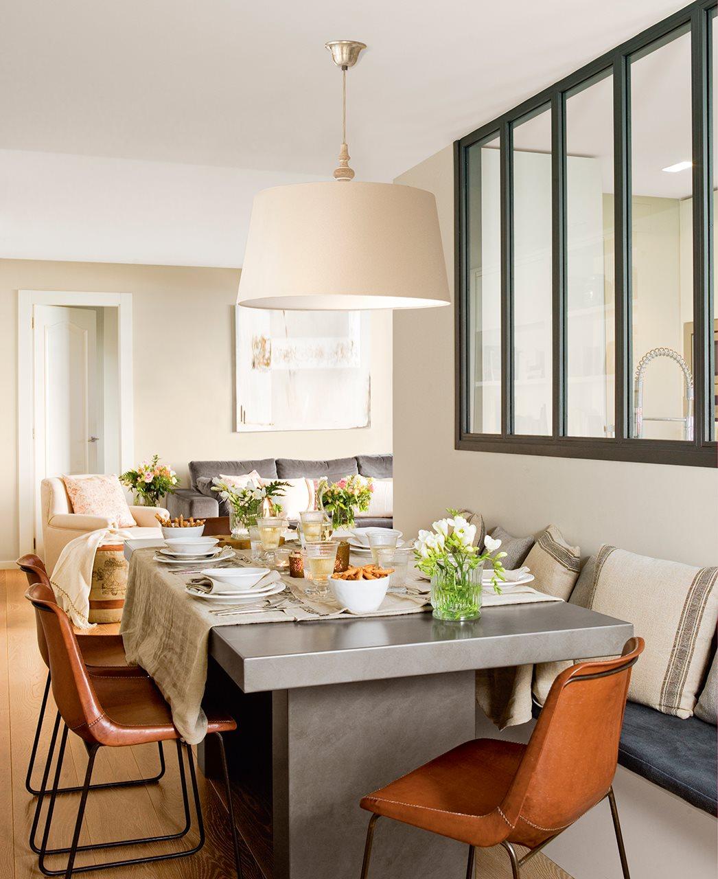 Ideas para espacios peque os for Cocina comedor chico