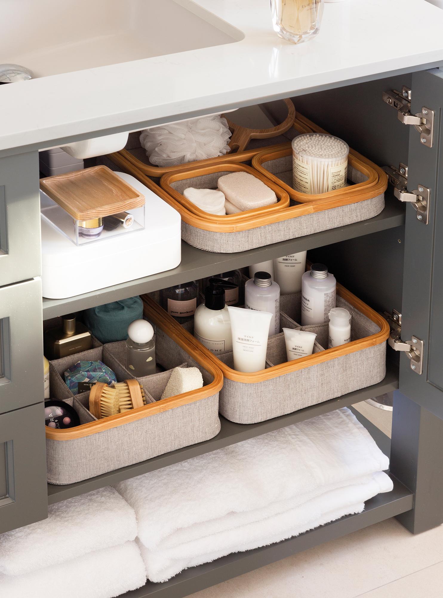 Orden en toda la casa 25 trucos de experto - Cestas para armarios ...