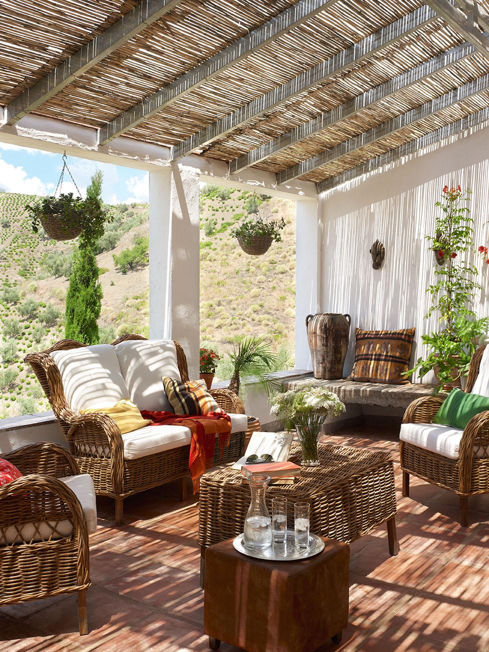 Salones exteriores for Muebles para terraza al aire libre