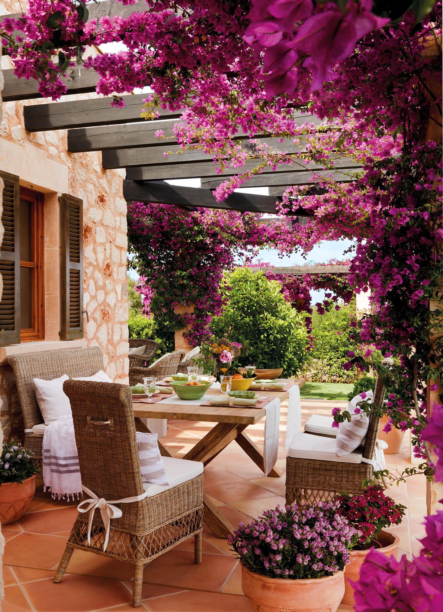 Comedores de exterior los 50 mejores de el mueble for Jardin las pergolas