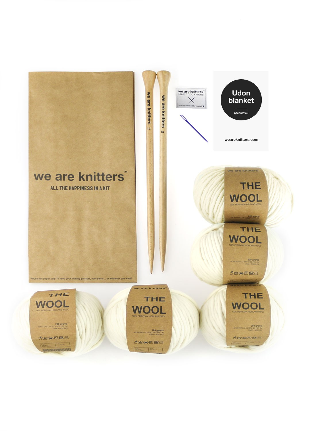 Kit Udon Blanket. Así son los kits de We Are Knitters.