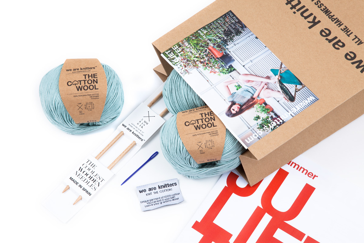 kit We Are Knitters. Ponle color.