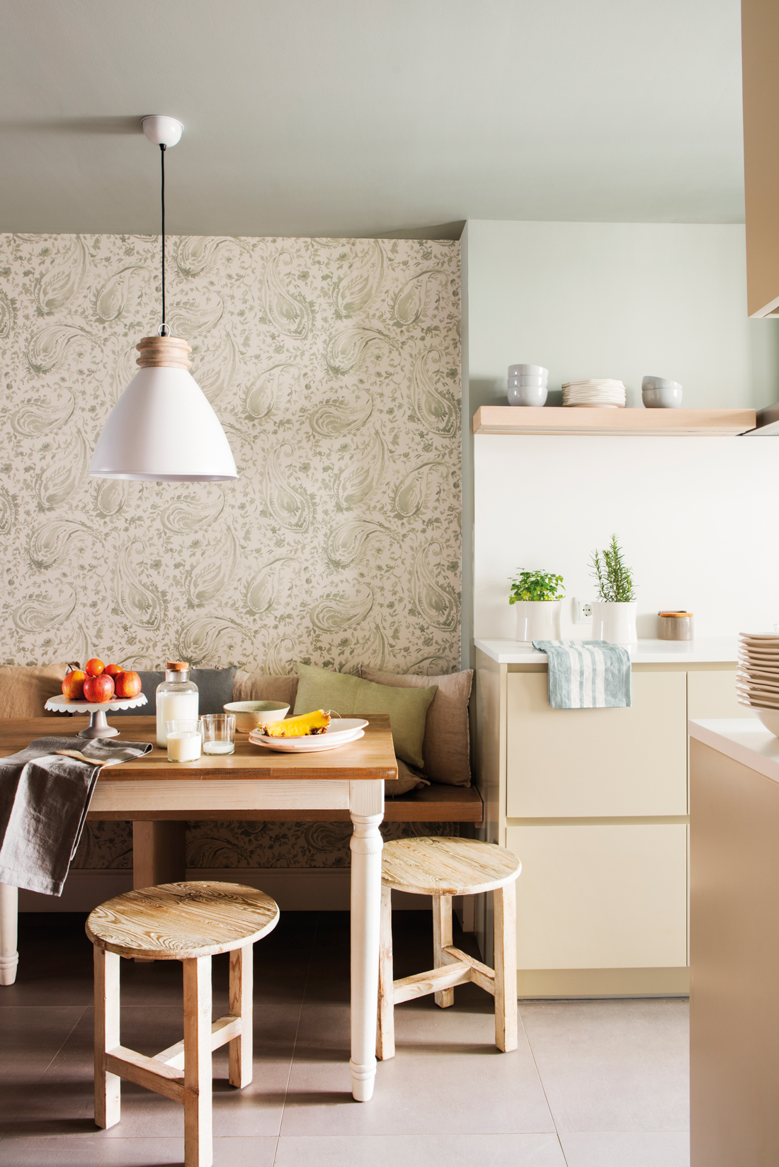Compartir la cocina con la familia for Papel pintado cocina ikea