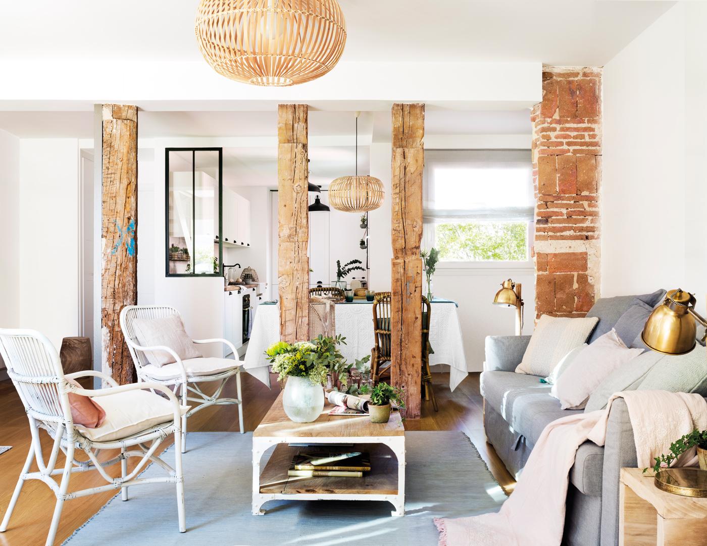 Las paredes de ladrillo visto son un extra decorativo - Cocinas decoracion paredes ...