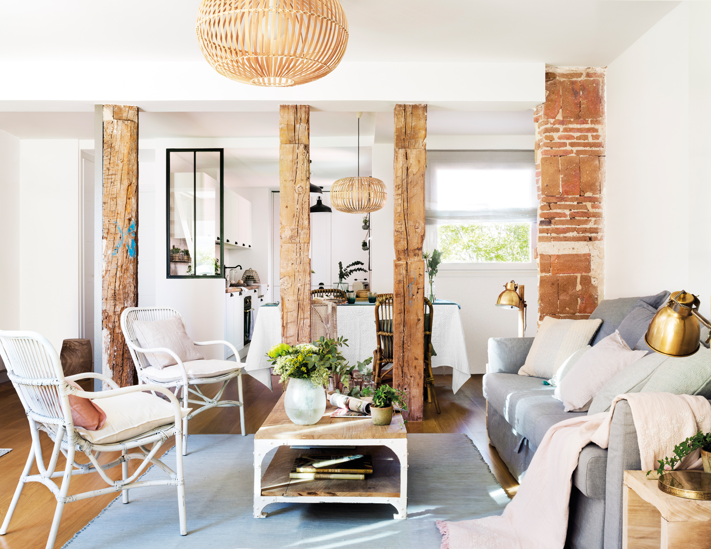 Muebles Con Ladrillos Finest Chimenea Revestida Con Ladrillos  # Muebles Panorama
