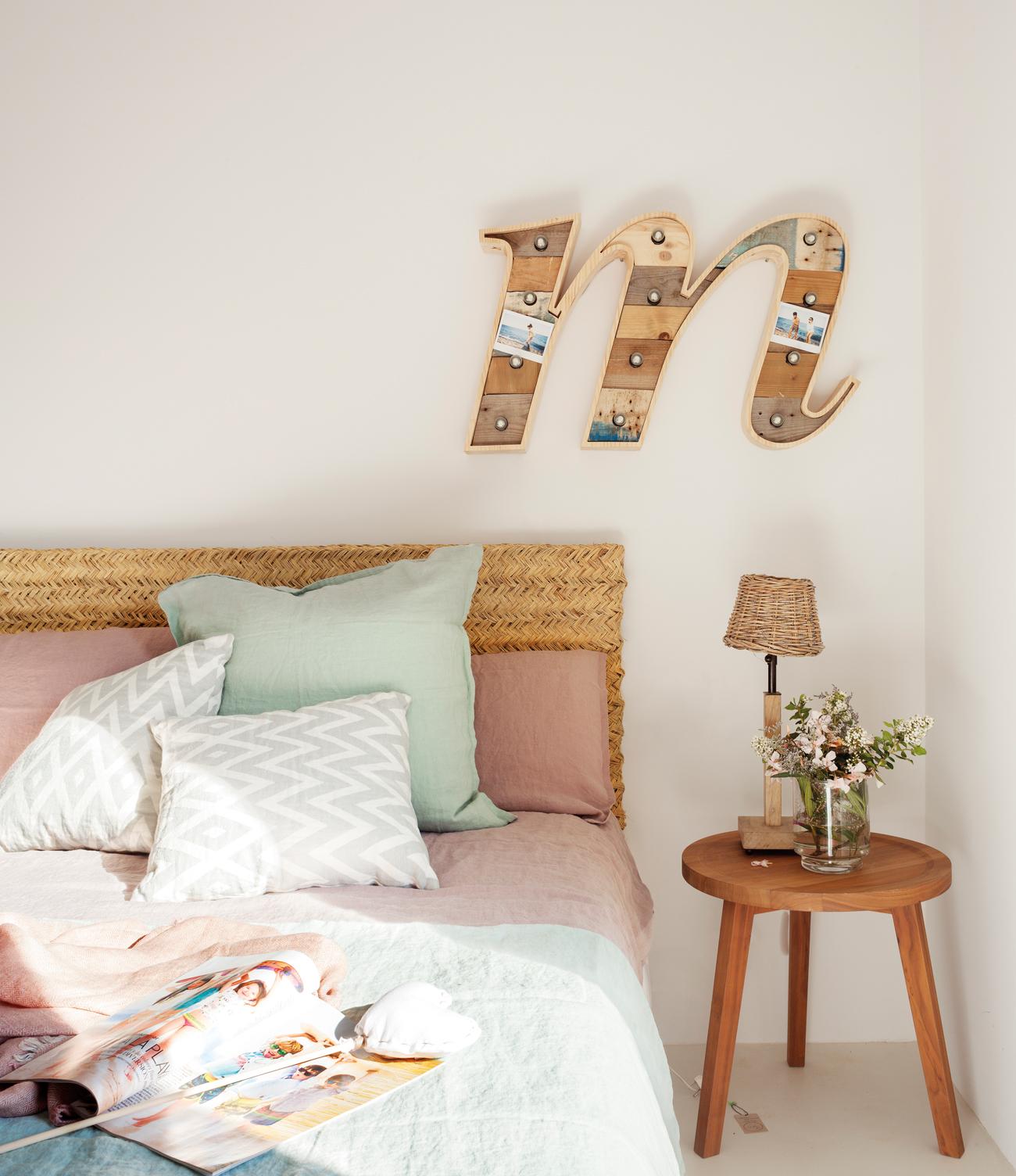 Cabeceros de cama de madera r sticos decorados o - Cabeceros de madera rusticos ...