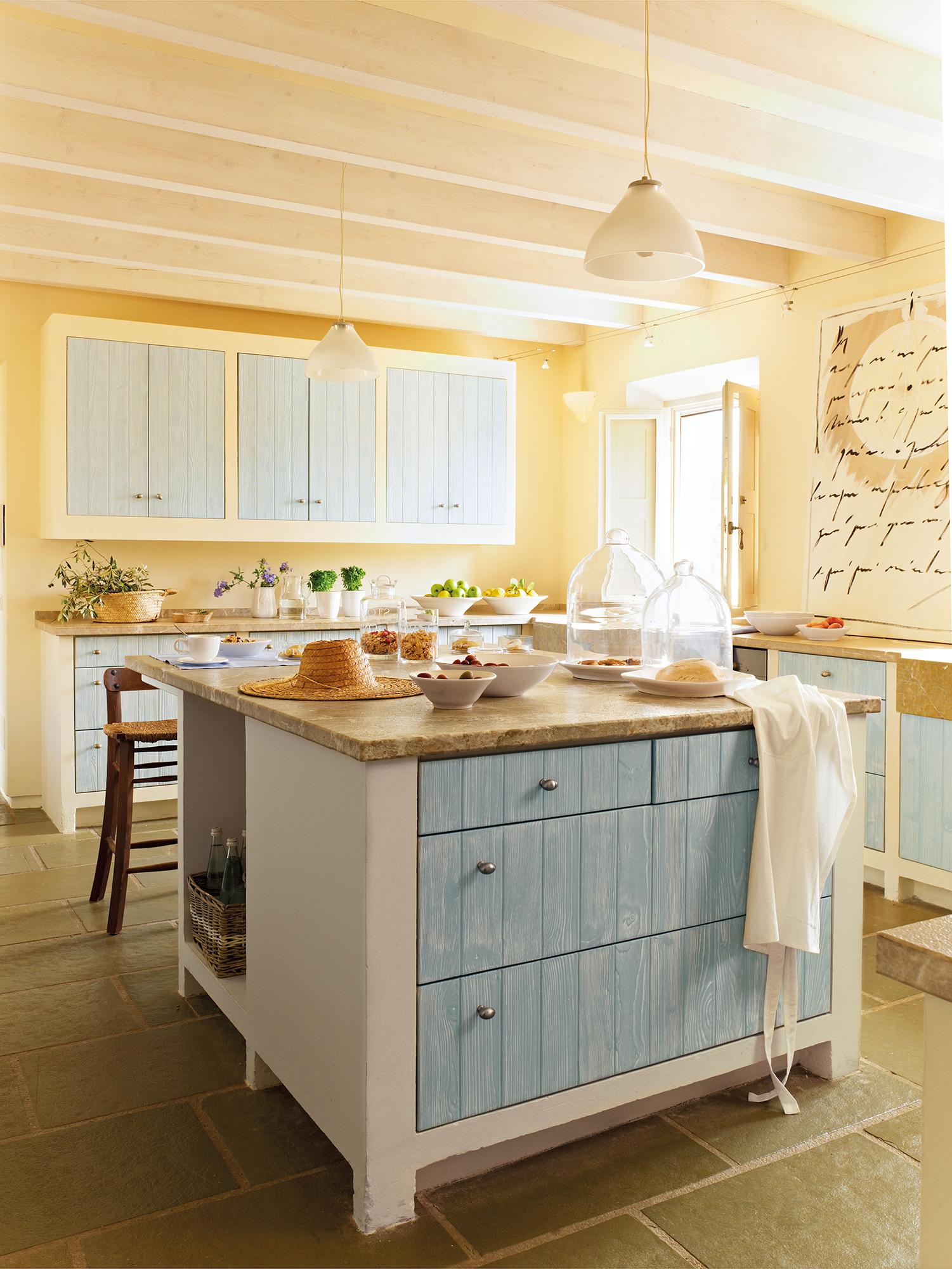 Cocinas con color - Muebles de cocina de obra ...