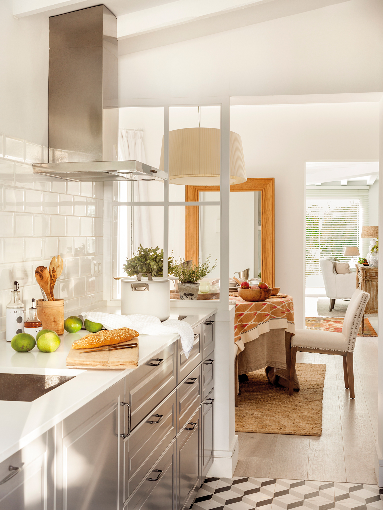 Cocinas con color for Cocina de madera antracita