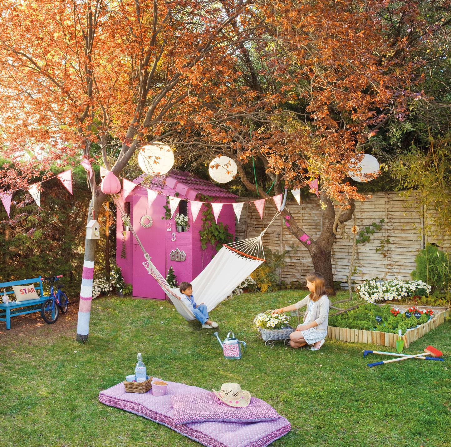 Hamacas decoraci n exterior for Jardin infantil los pinos