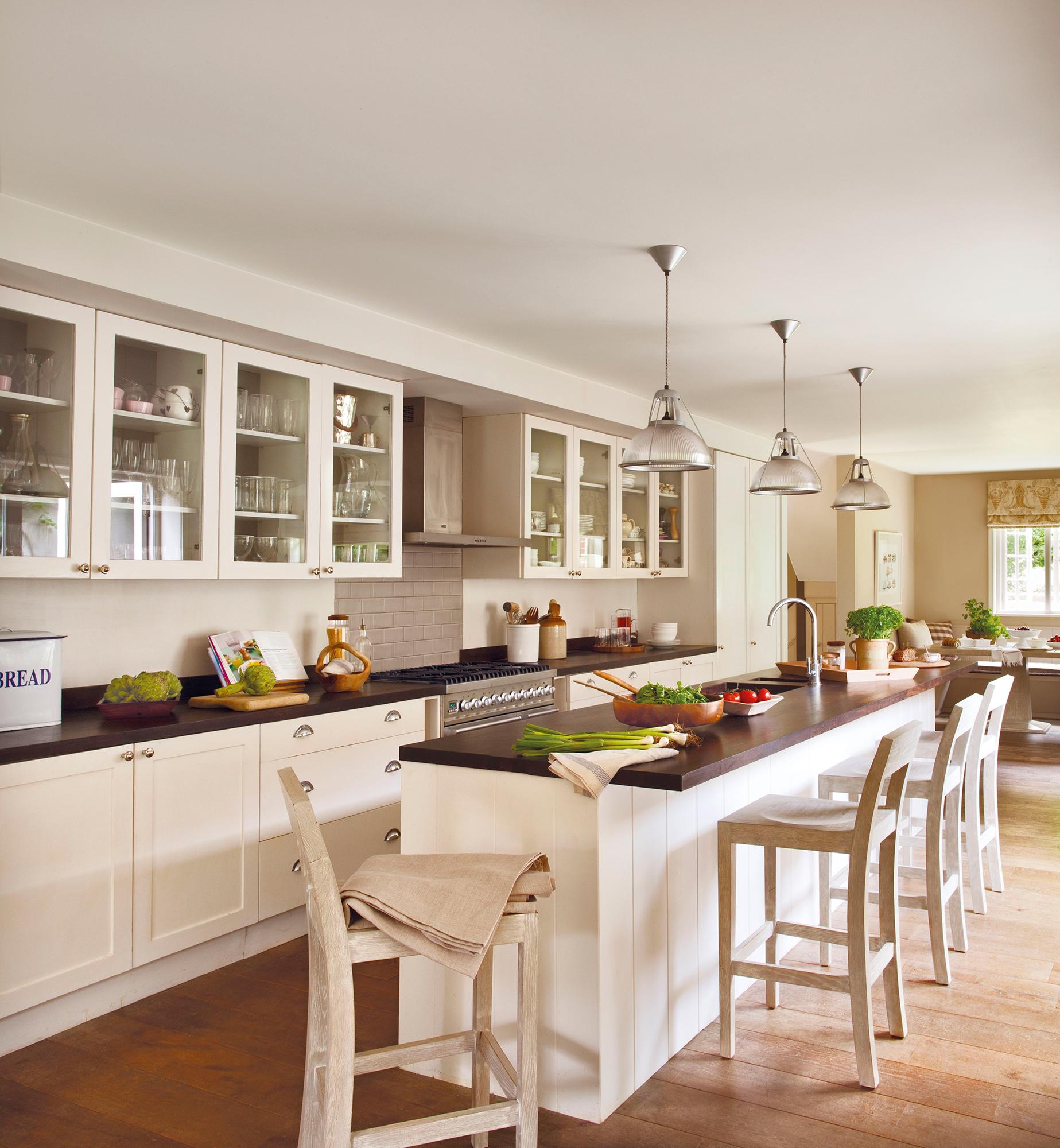 Cocinas Las 50 Mejores De El Mueble - Cocinas-blancas-con-isla