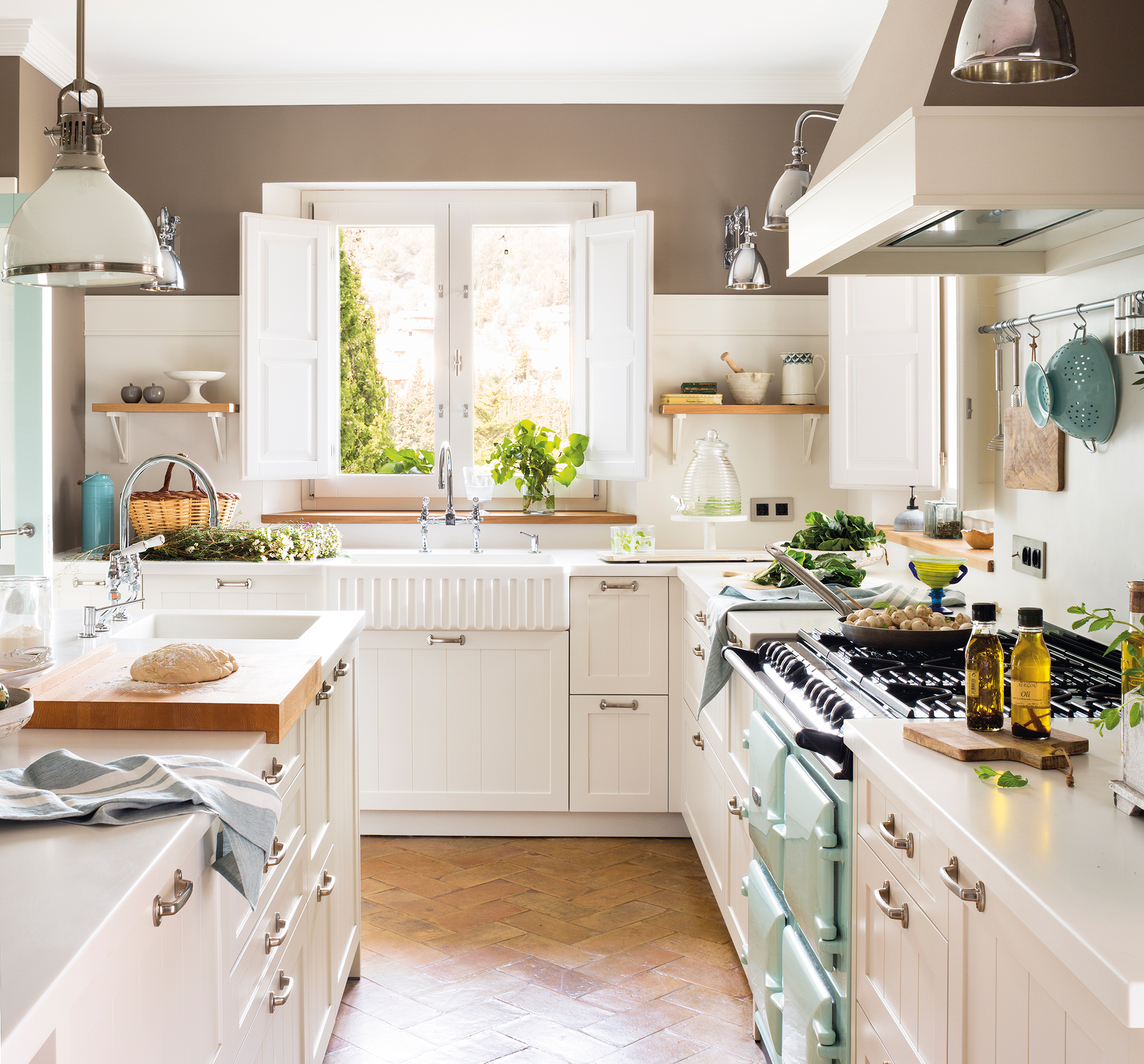Cocinas las 50 mejores de el mueble - Mesas rusticas de cocina ...
