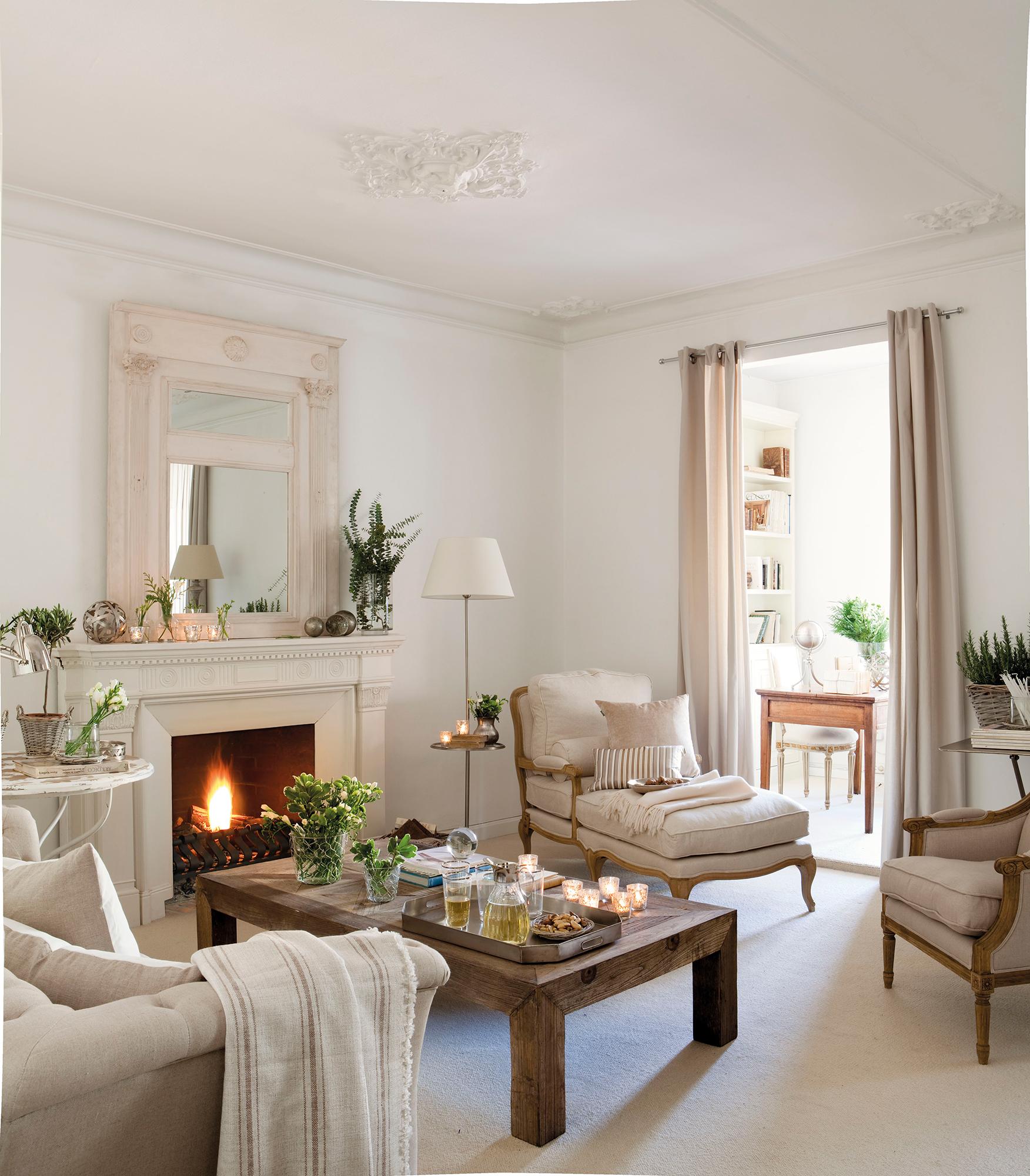 Salones blancos y luminosos for Salones mezcla clasico moderno