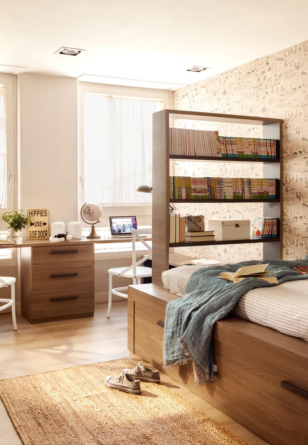 Estudios para habitaciones de ni os - Cama nido con escritorio ...
