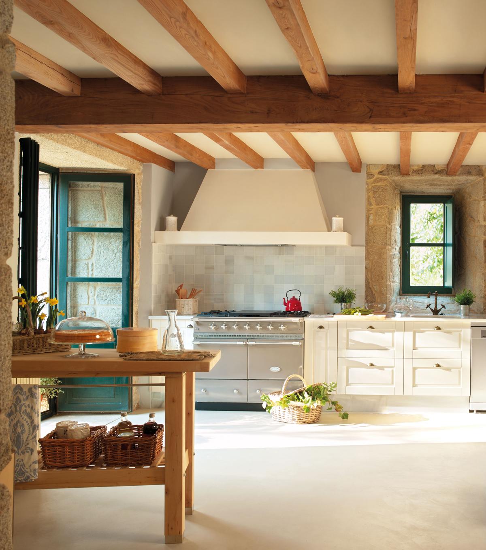 Cocinas muebles decoraci n dise o blancas o peque as - Fotos de cocinas rusticas de campo ...