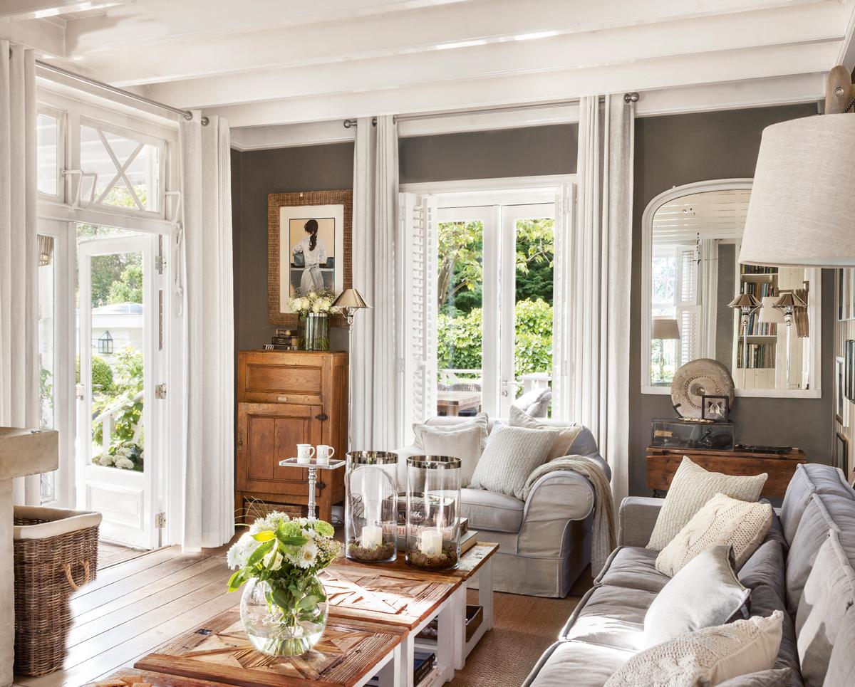 Salones con toques en gris - Muebles grises paredes color ...