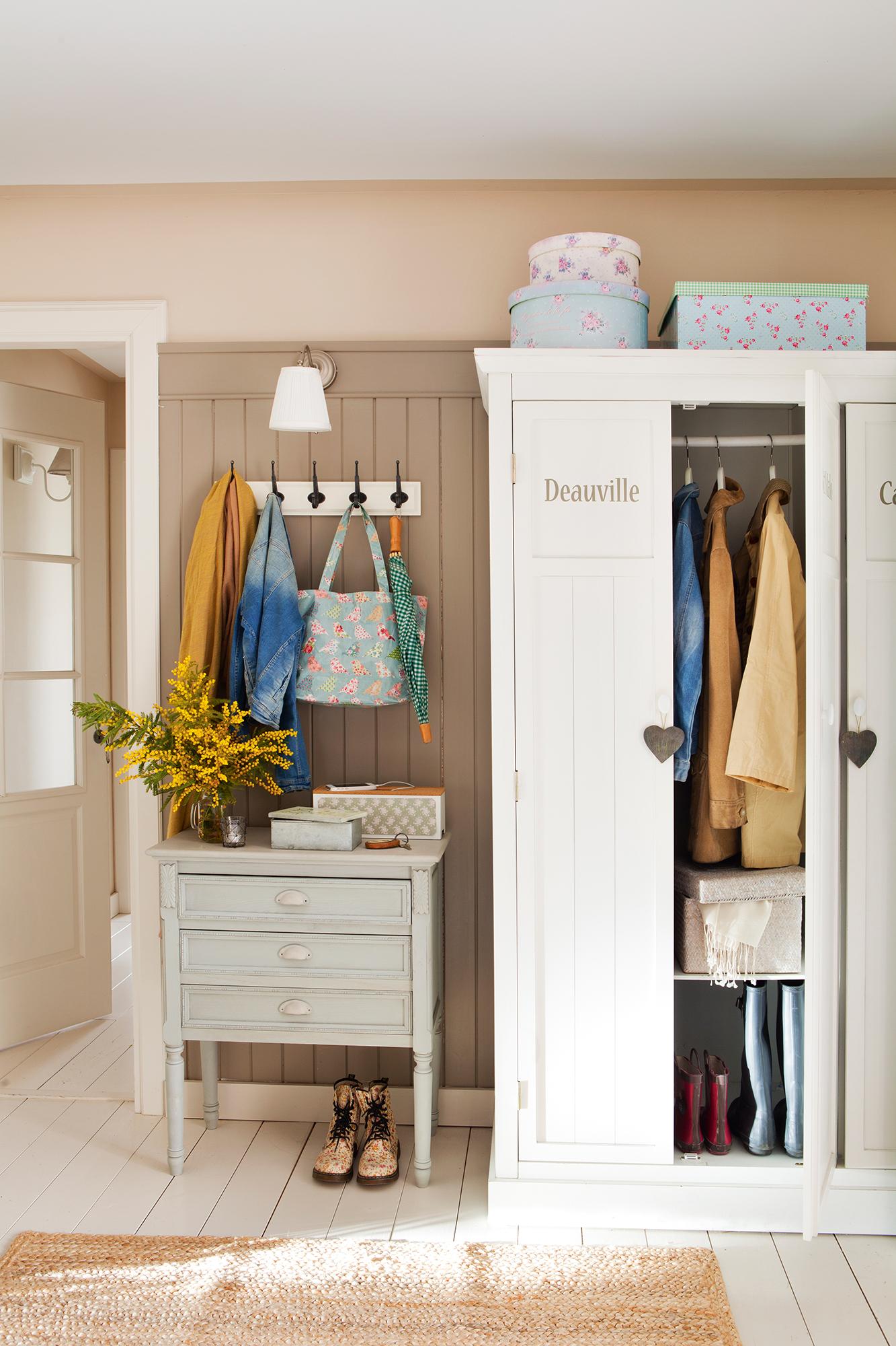 Armarios roperos armarios de cocina y armarios de ba o - Armario madera blanco ...