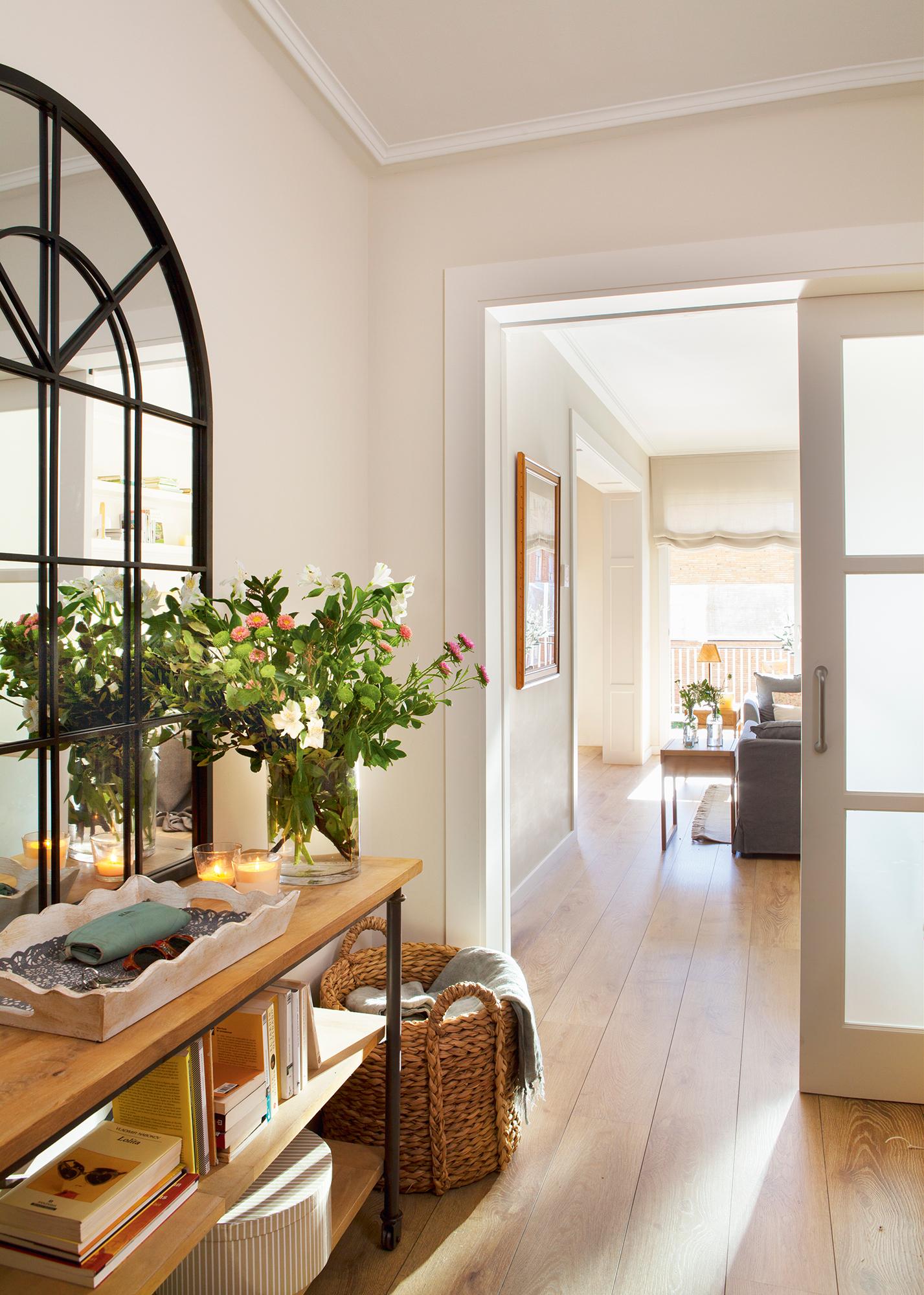 Recibidores los mejores 50 de el mueble - Recibidores con espejos grandes ...