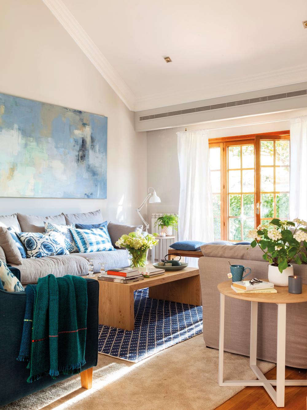 Salones Con Toques En Verde Y Azul # Muebles Turquesa