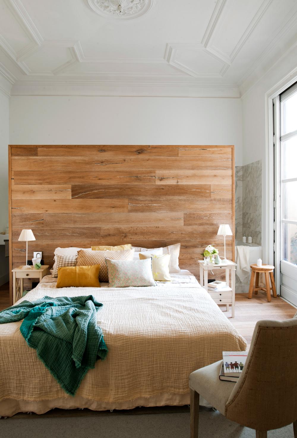 Cabeceros de cama los 50 mejores de el mueble - Forrar cabecero de cama ...