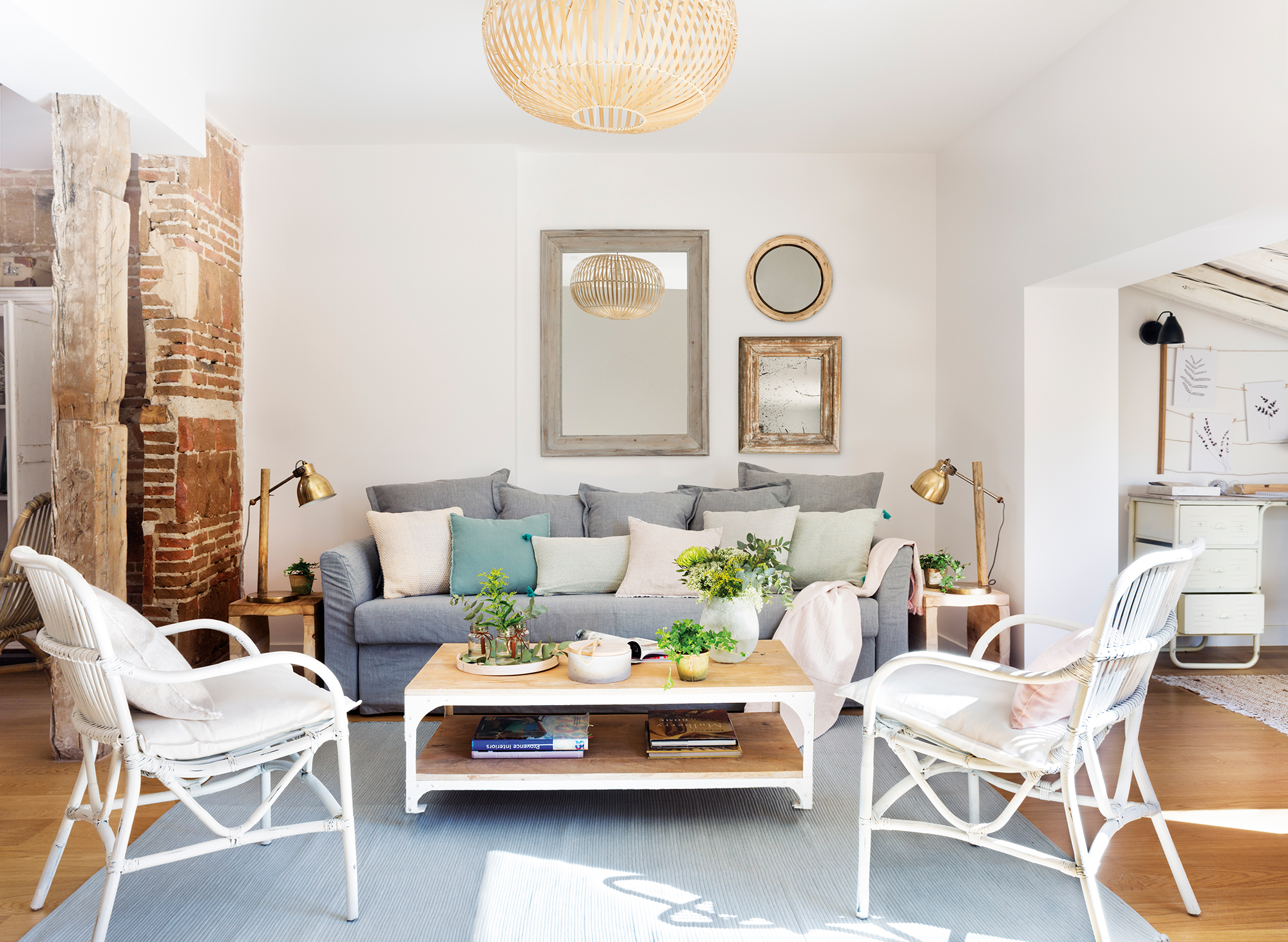 Sof claves para elegirlo - Salon sofa gris ...