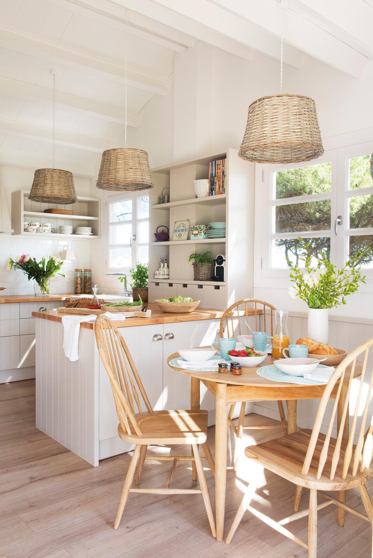 Ideas para decorar el office - Mesa cocina rustica ...
