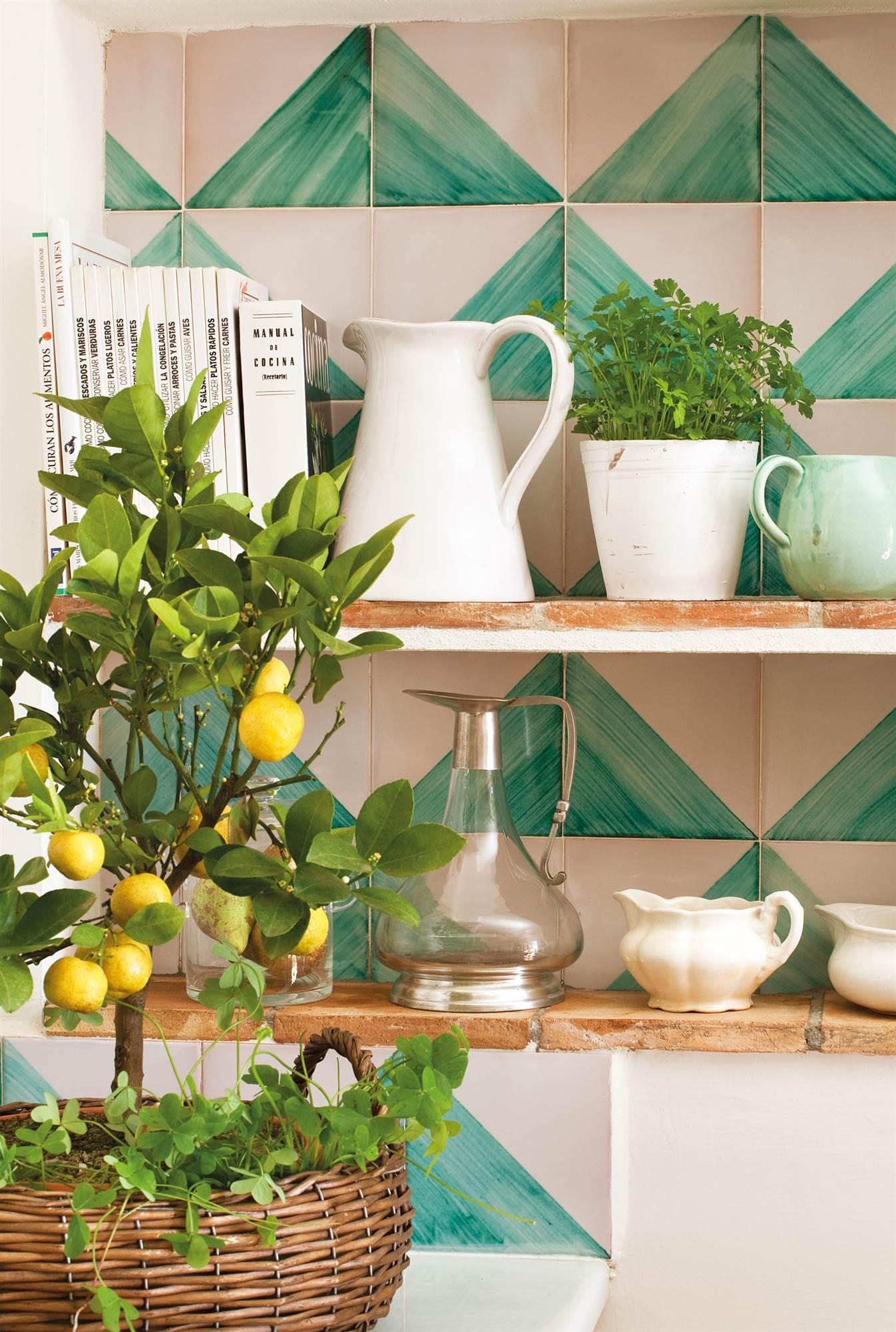 Soluciones decorativas con pintura - Azulejos pintados cocina ...