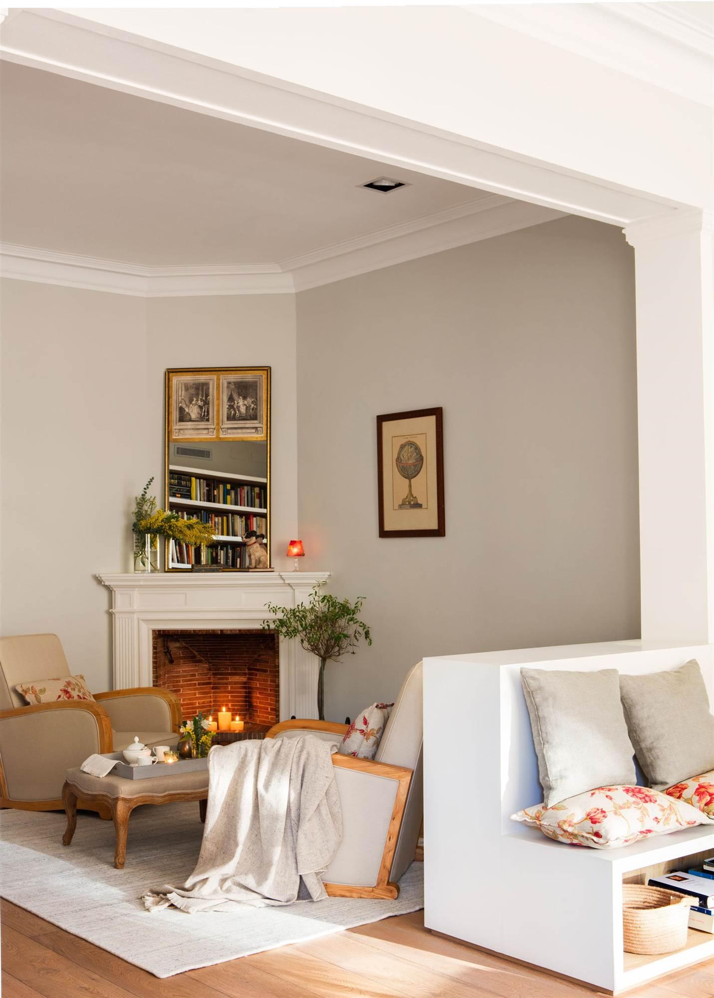 Soluciones decorativas con pintura - Chimeneas para salones ...