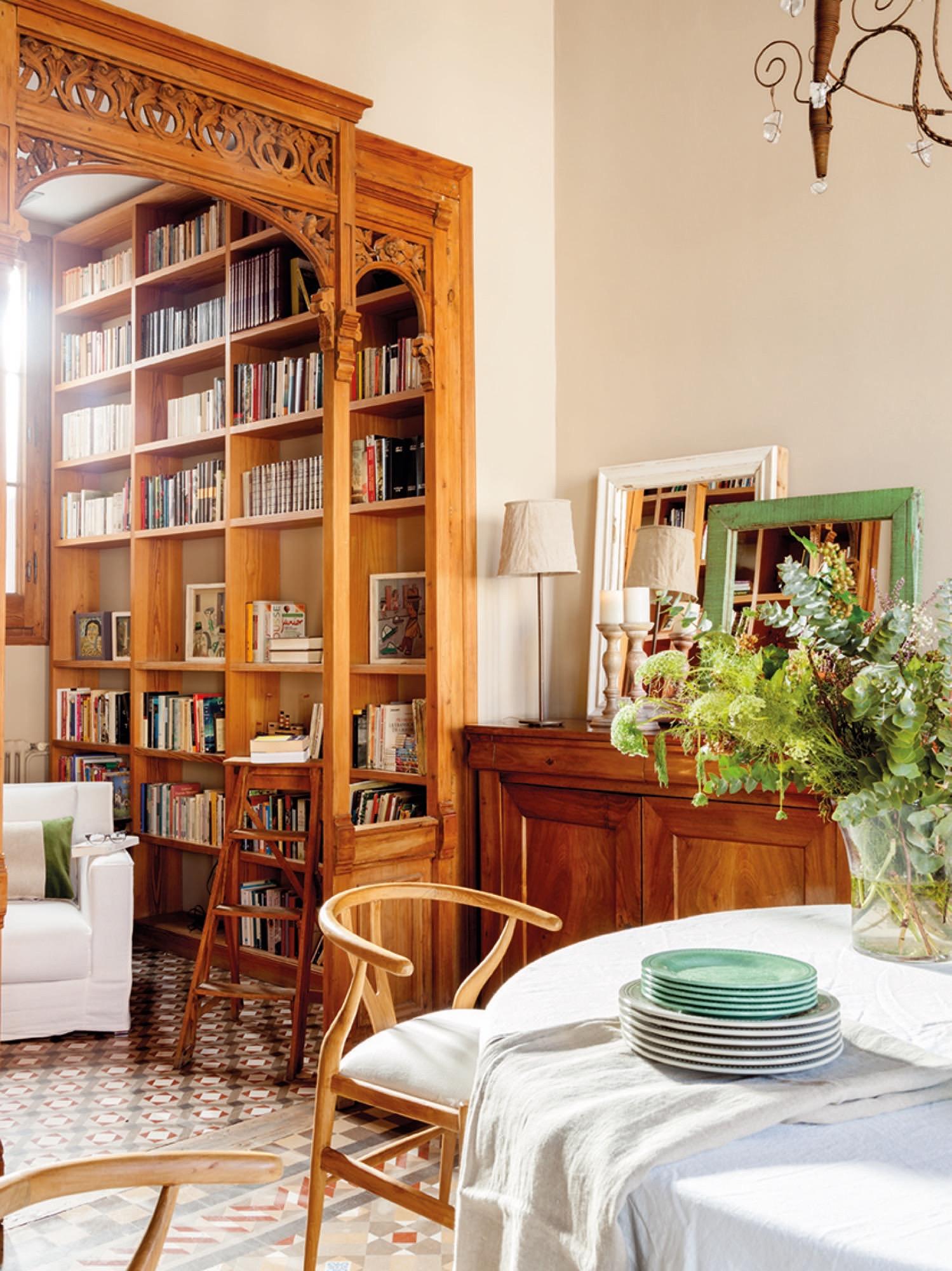Las mejores casas urbanas de oto o - Biblioteca madera blanca ...