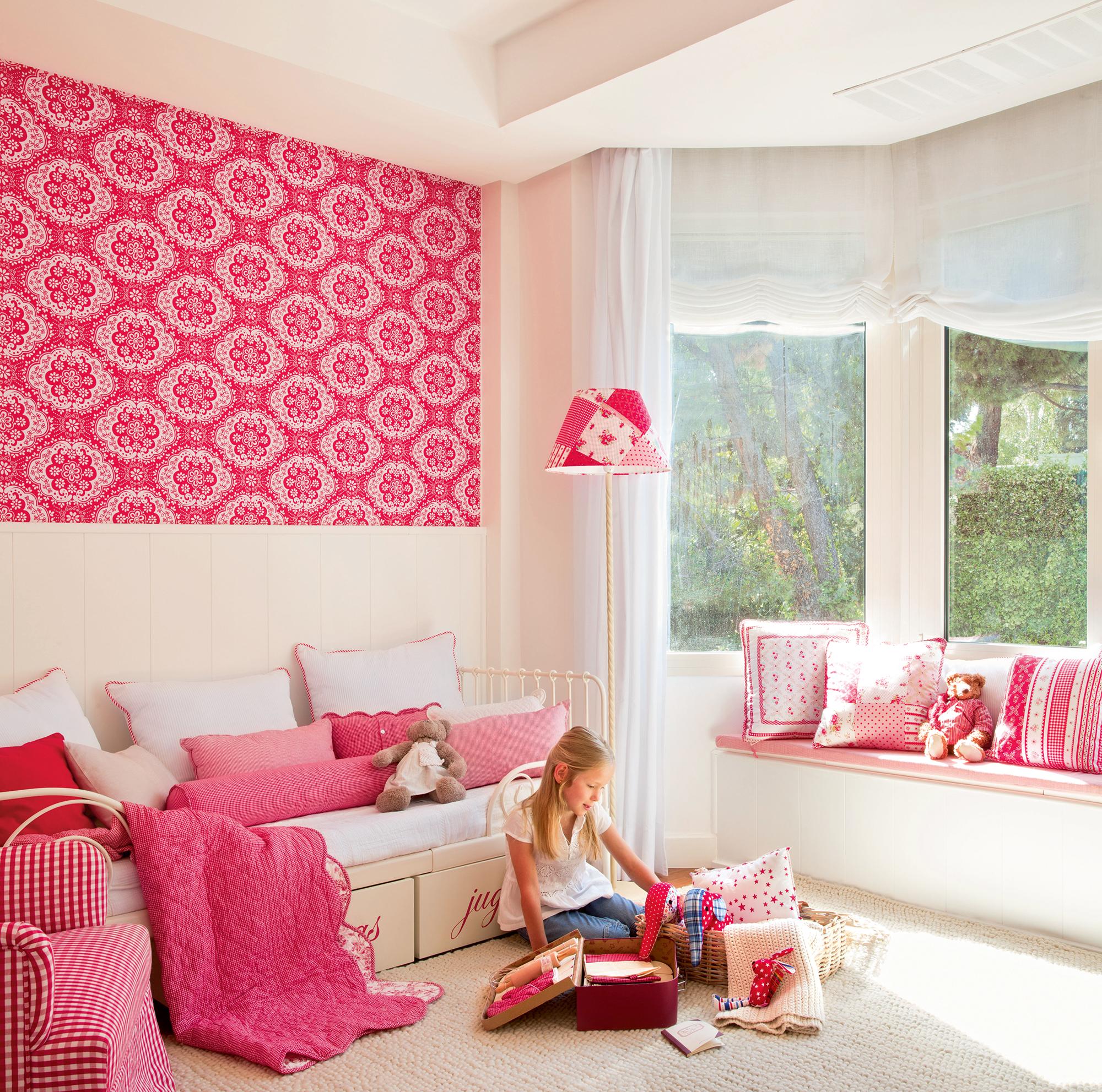 Ni os muebles y decoraci n de habitaciones infantiles - Habitacion infantil rosa ...