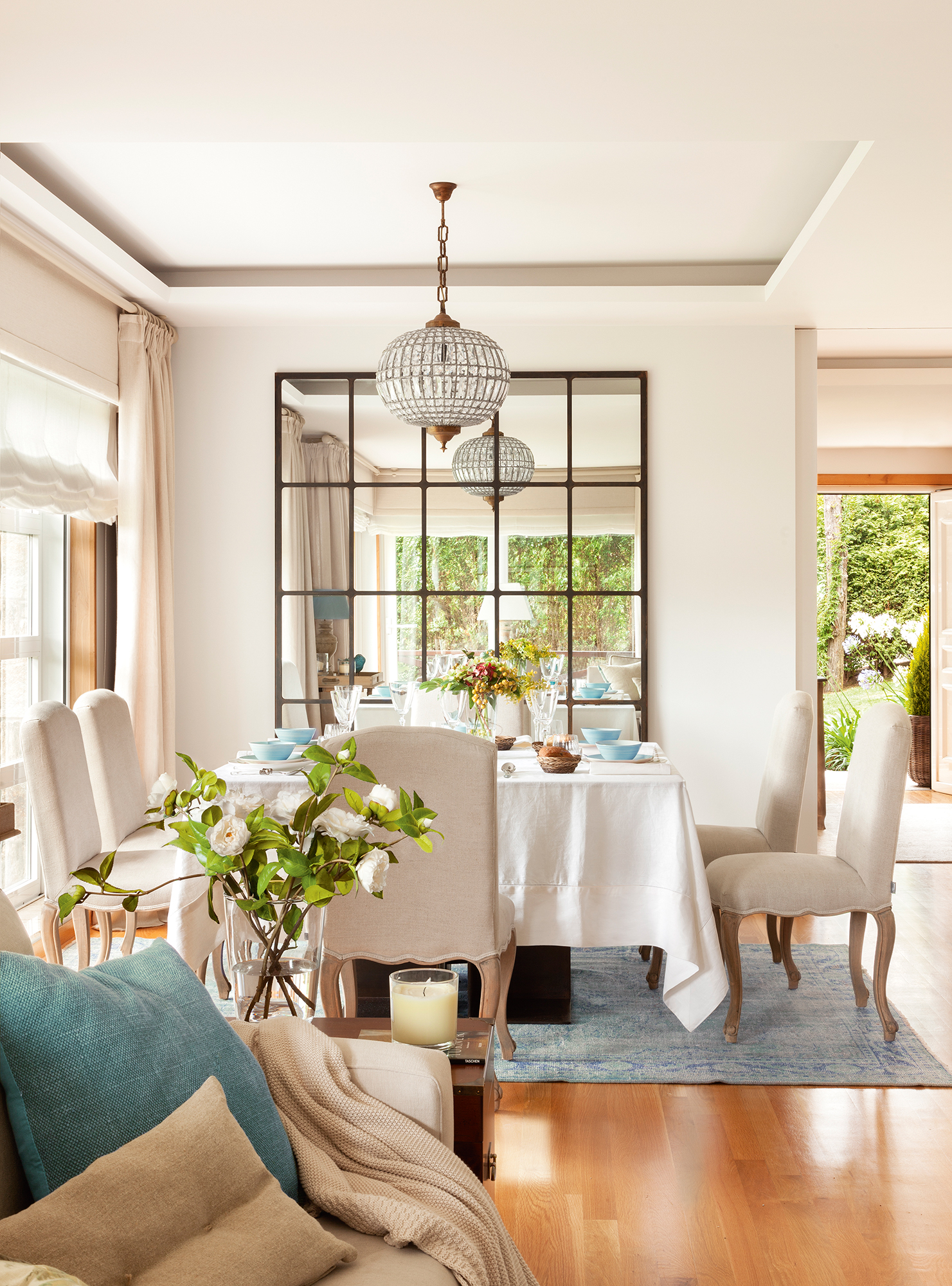 Comedor 15 ideas para decorar sus paredes Como decorar un living comedor de un departamento
