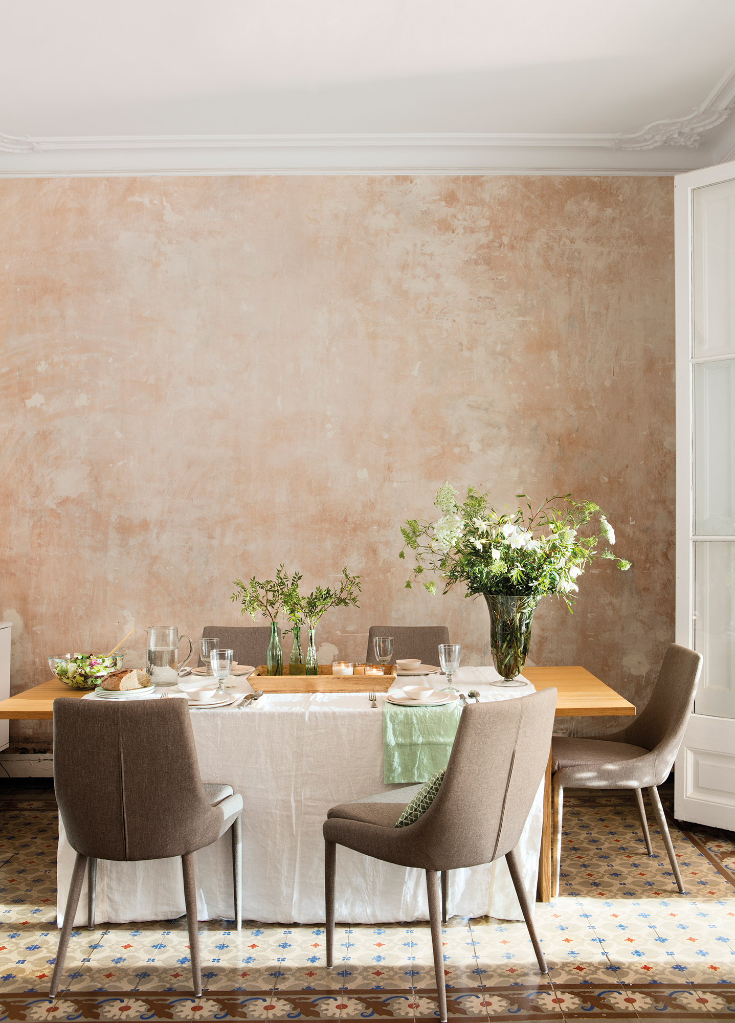 Comedor 15 ideas para decorar sus paredes - Pintura metalizada pared ...