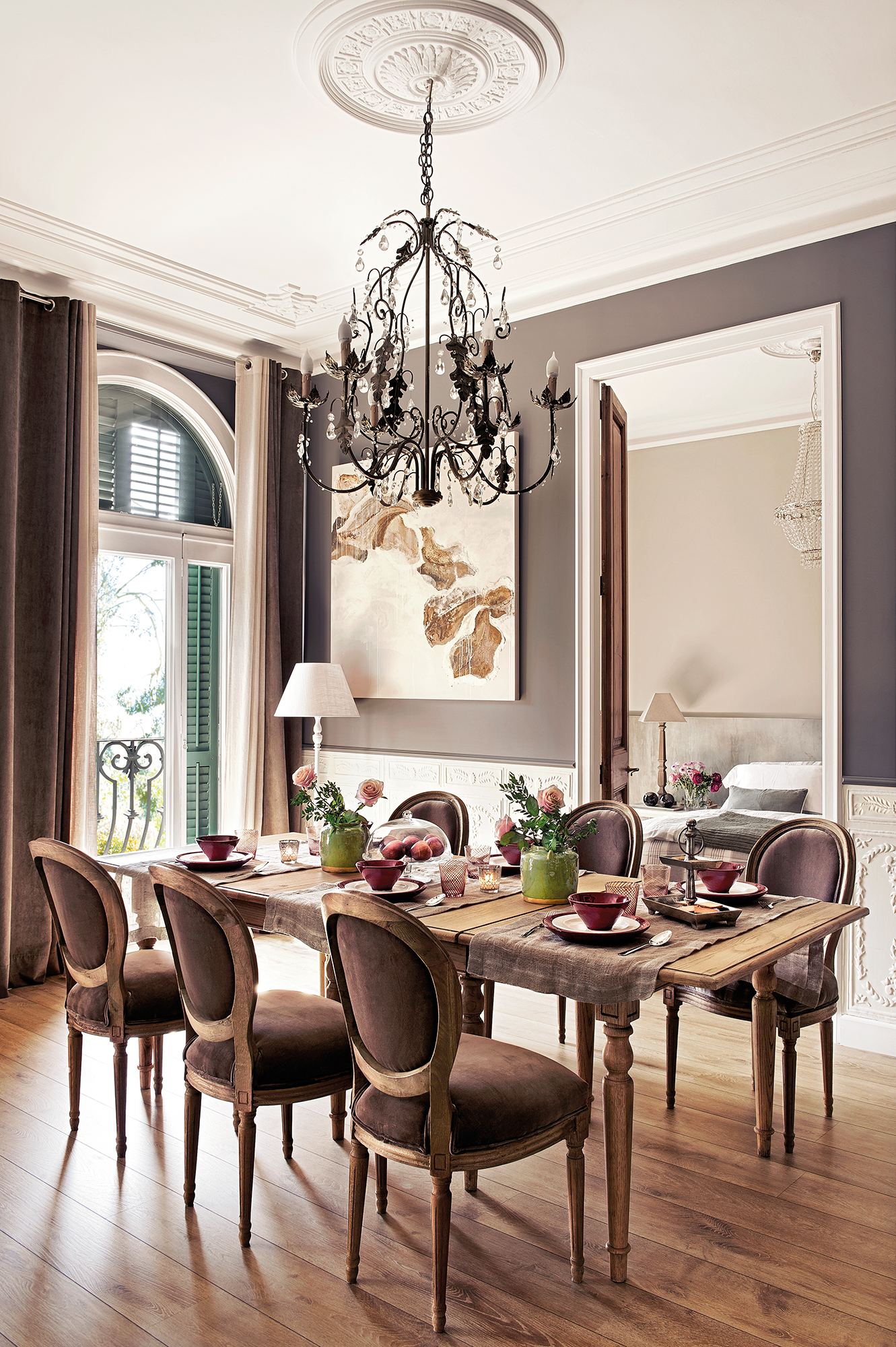 Comedor 15 ideas para decorar sus paredes for Muebles de comedor en color blanco