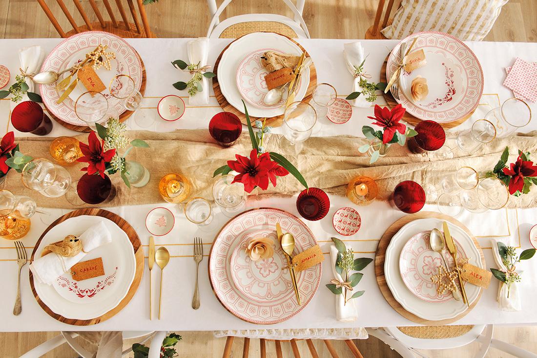 Detalles para decorar la mesa de navidad - Decoracion de mesa navidena ...