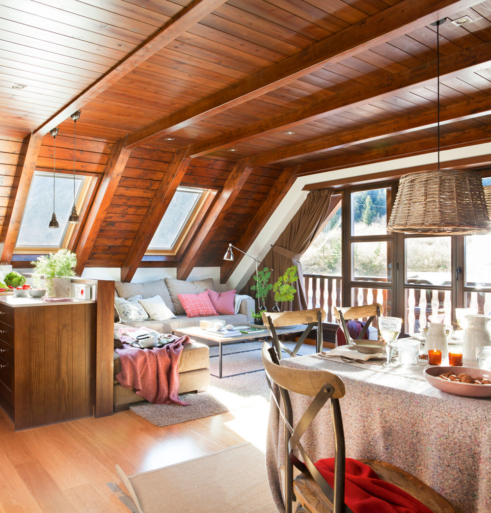 Enam rate de tu techo - Decoracion con vigas de madera ...
