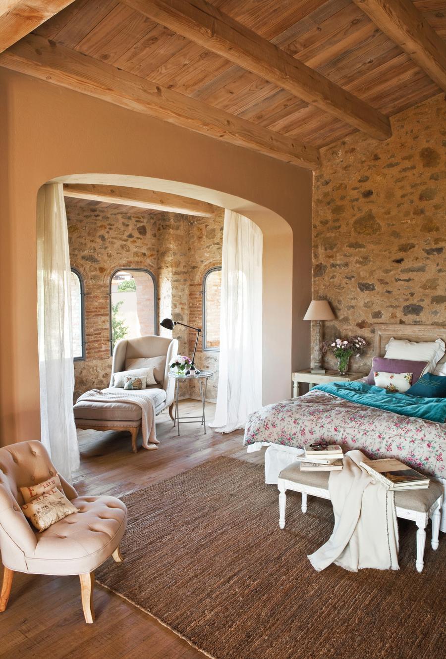 Los 4 dormitorios m s bonitos de las redes - Cortinas rusticas dormitorio ...