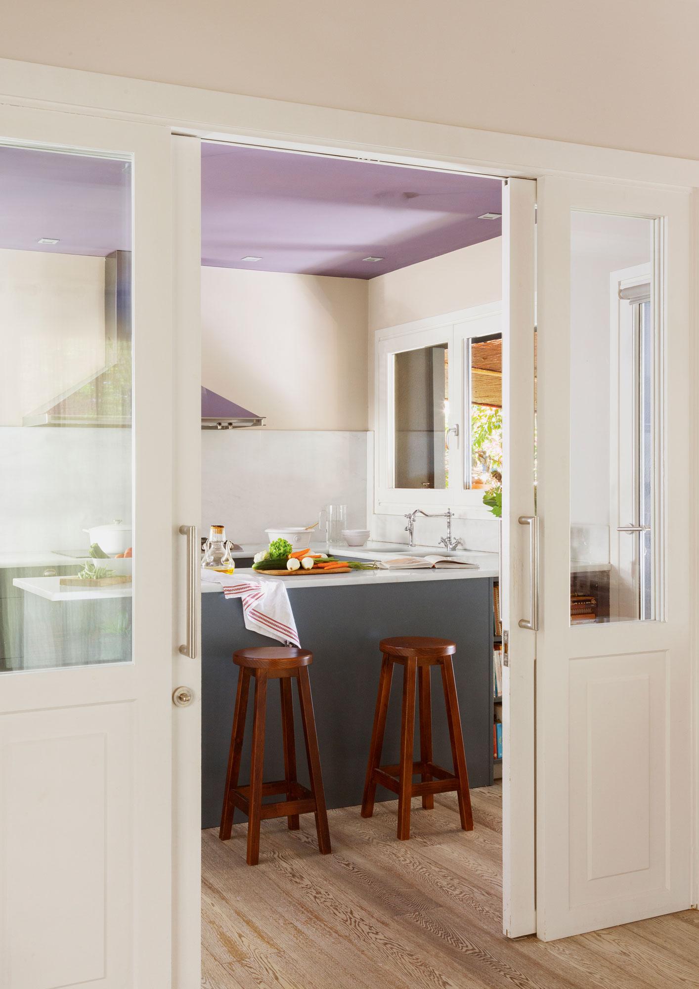 Puerta Corredera Cristal Cocina Great En La Entrada A La Cocina  ~ Puerta Corredera Cristal Cocina
