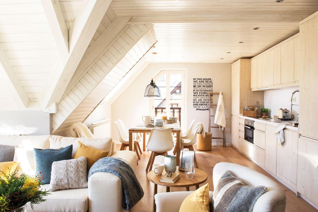 Office decoraci n del office en cocinas el mueble for Sillas de cocina blancas de madera