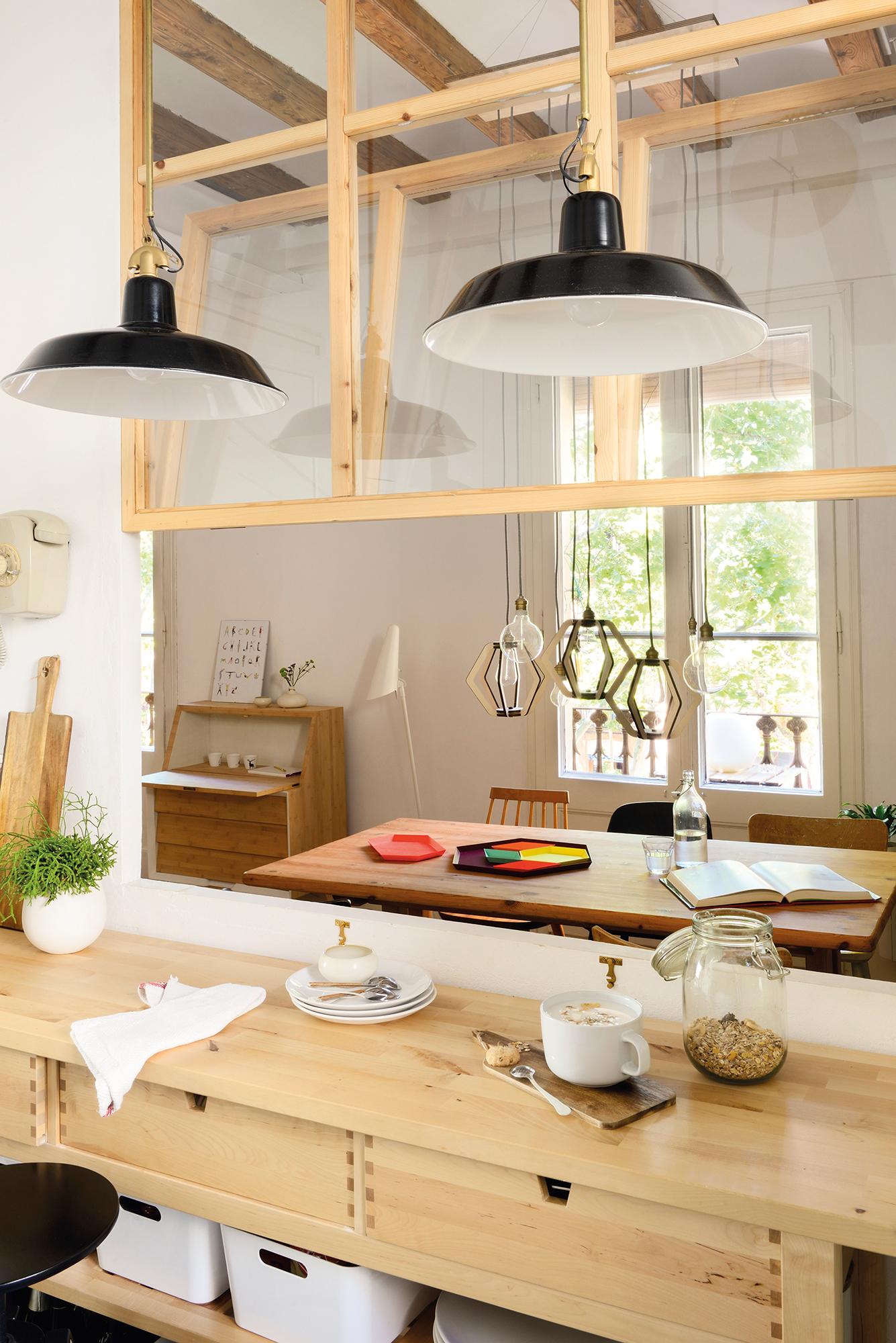 Hermoso Lamparas De Techo Cocina Fotos Lampara De Techo Mi Casa  ~ Iluminacion Para Cocinas Techos