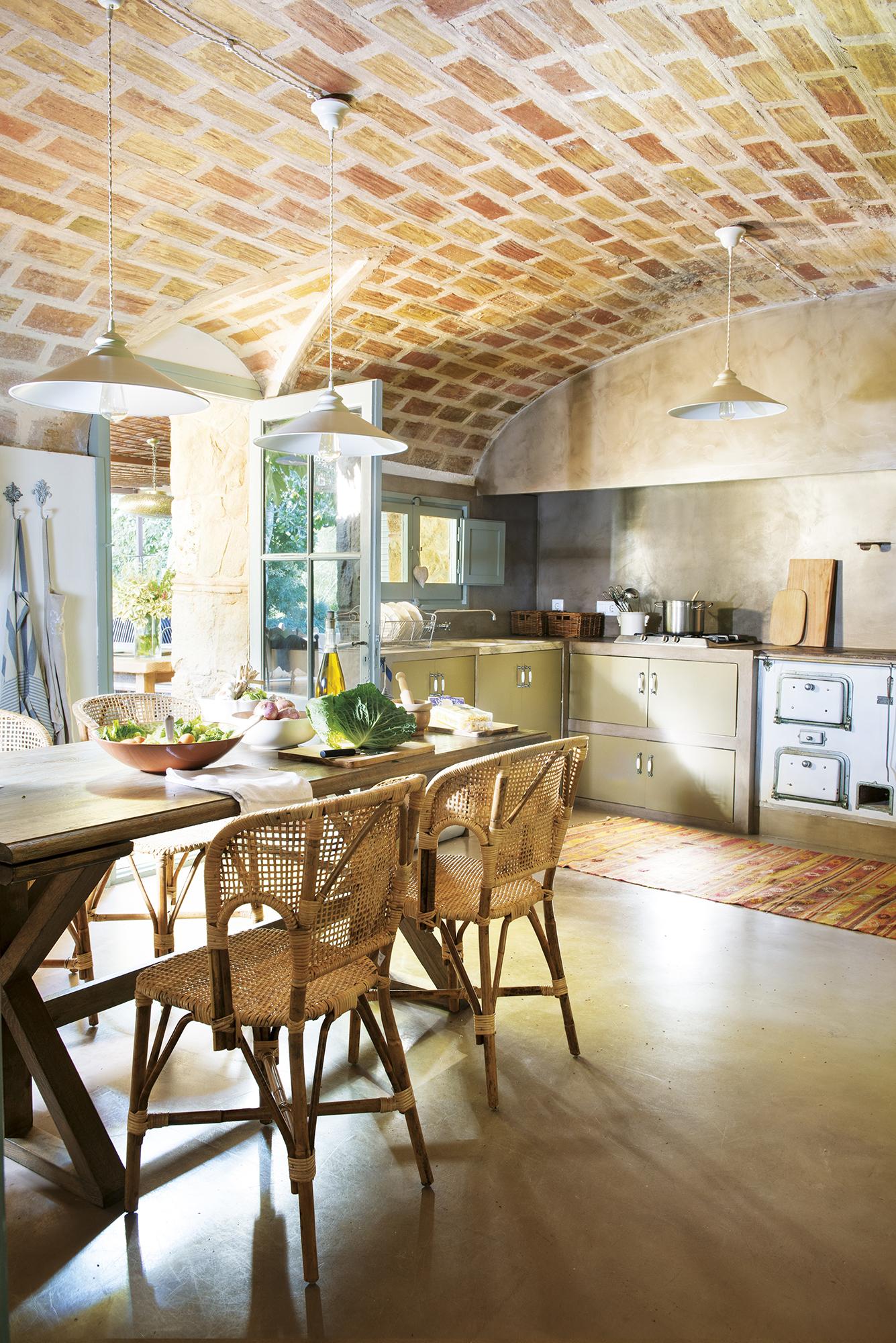 DSC7264. Cocina de cemento pulido de estilo rústico