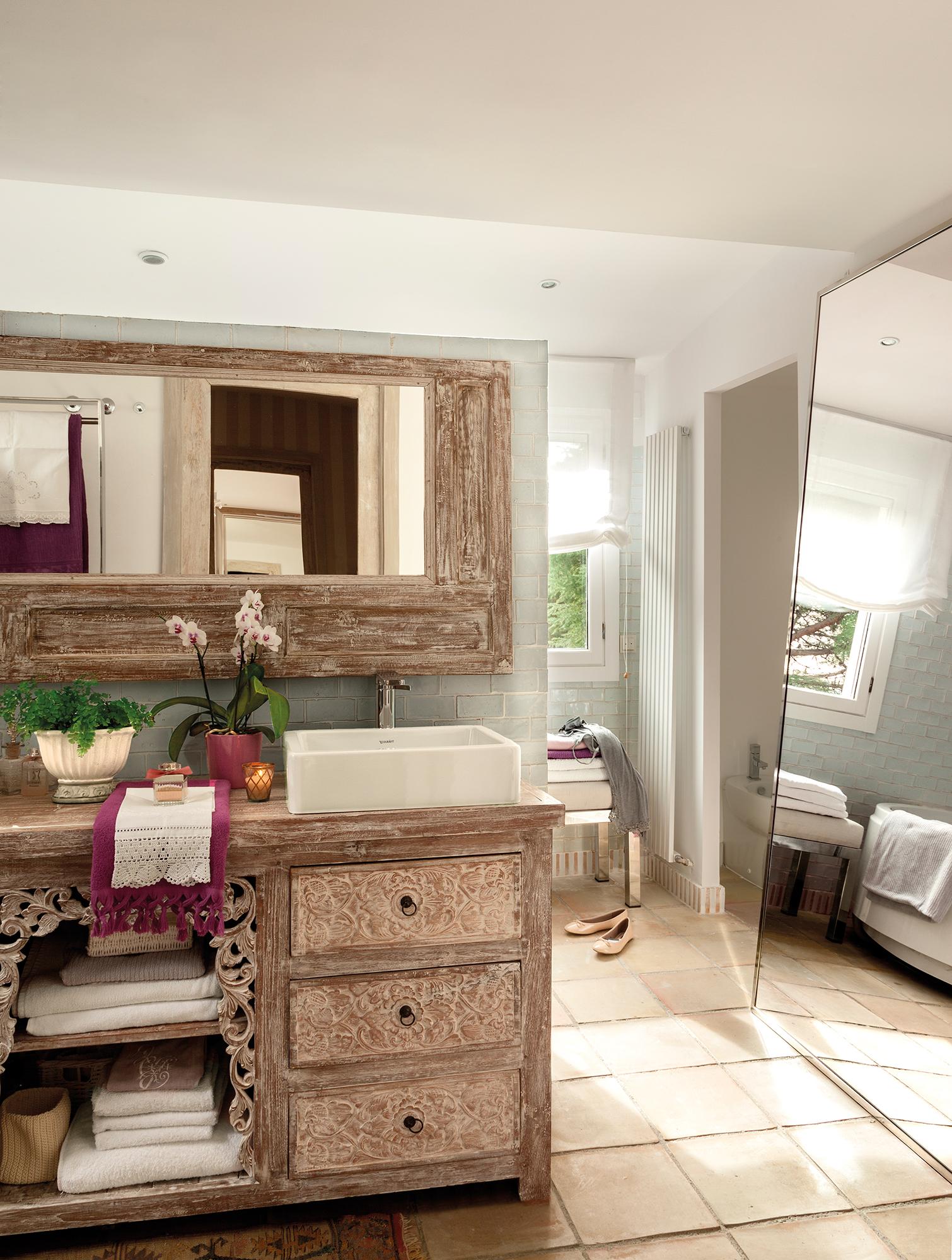 Espejos de ba o 15 dise os de todos los estilos for Mueble con espejo