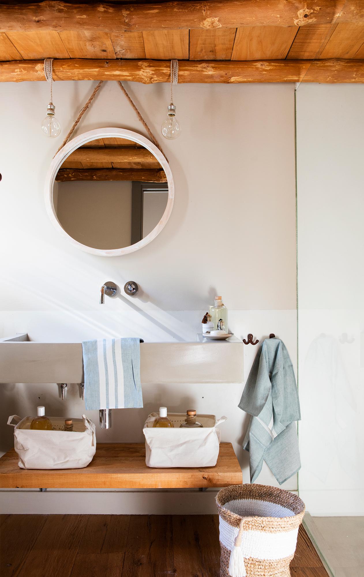 Espejos de ba o 15 dise os de todos los estilos for Bano con espejo redondo