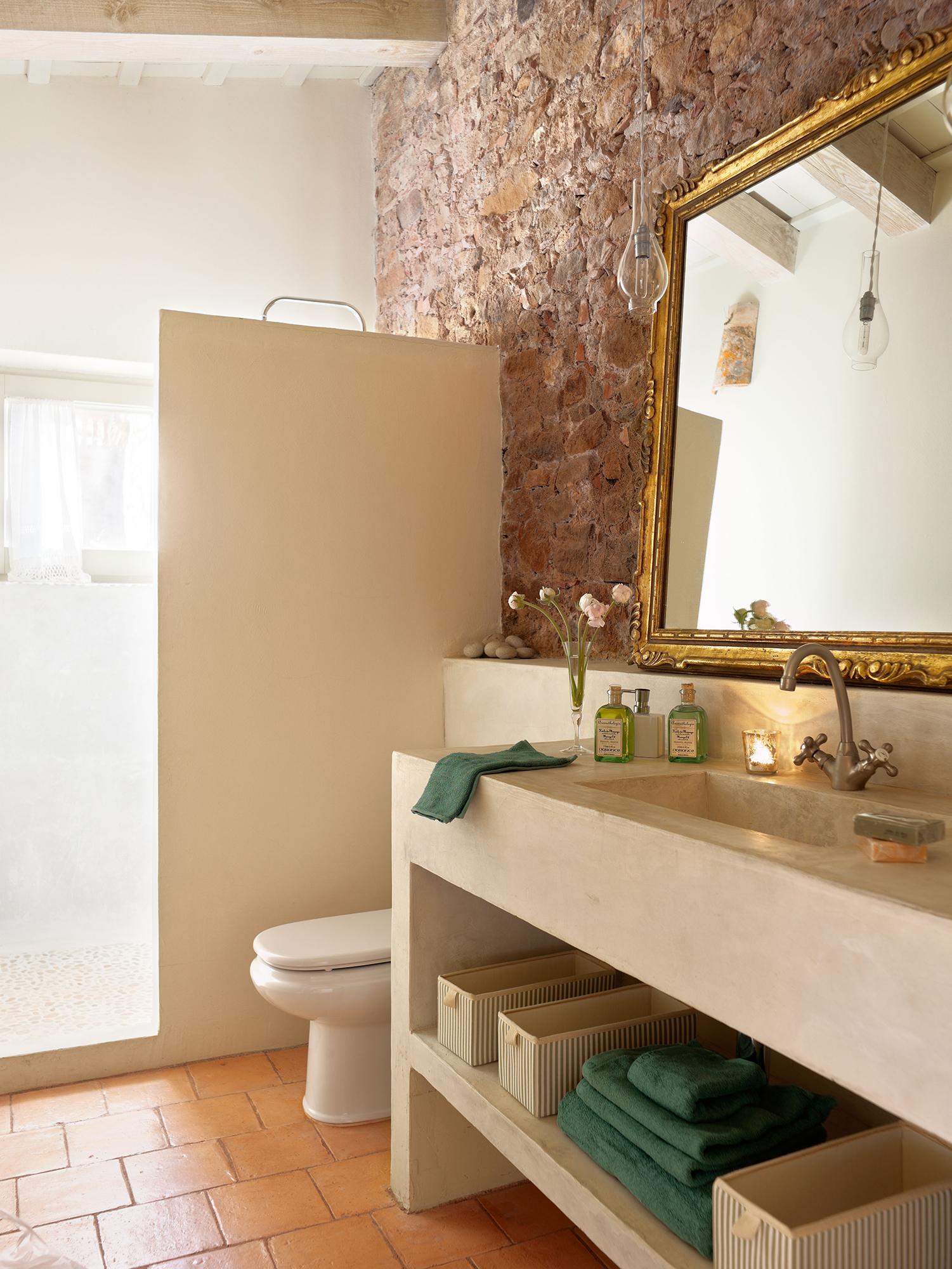 Espejos de ba o 15 dise os de todos los estilos - Mueble de bano antiguo ...