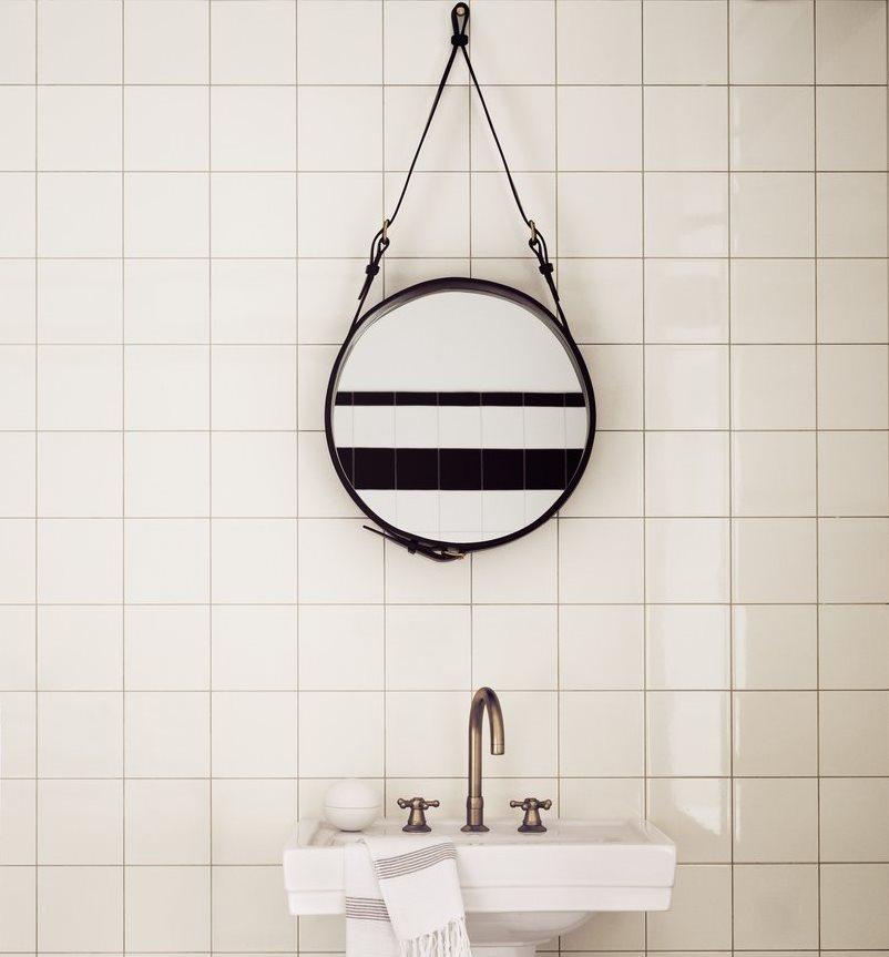 Espejos de ba o 15 dise os de todos los estilos for Espejo redondo cuerda