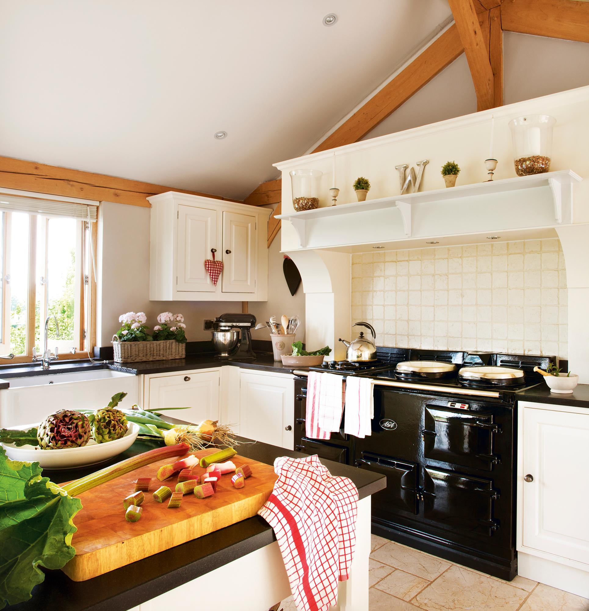 Cocinas muebles decoraci n dise o blancas o peque as for Cocinas de campo
