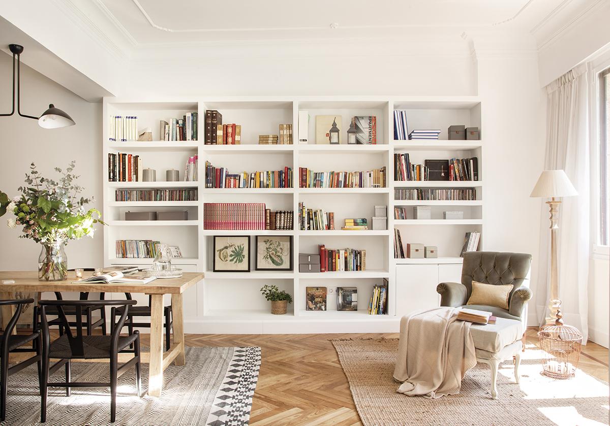 Orden en el sal n 25 trucos para decir adi s al caos - Mesas de libro para salon ...