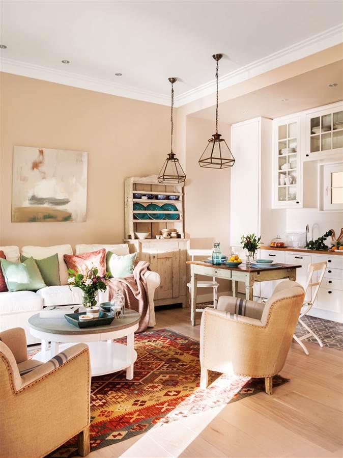 Diez pisos peque os con las mejores ideas para aprovechar el espacio Pintar piso pequeno