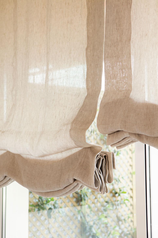 Salones muebles para la decoraci n del sal n comedor el - Estores de lino ...