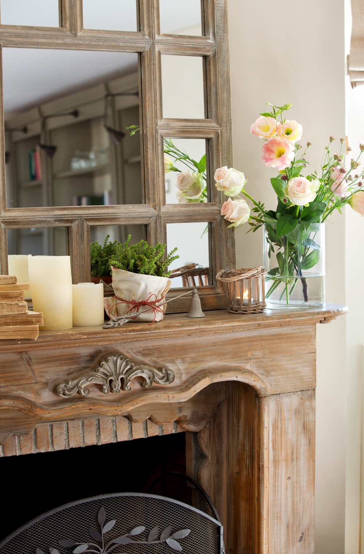 9 chimeneas muy bien decoradas for Espejos decorativos para chimeneas