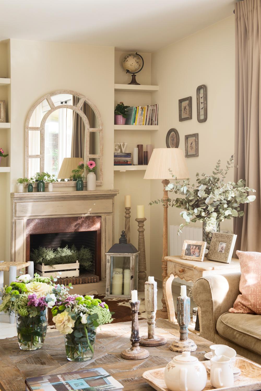 Salones muebles para la decoraci n del sal n comedor el for Espejos decorativos para chimeneas